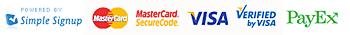 Betala säkert med MasterCard och Visa via SimpleSignup och Payex